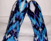 Warm Women's Socks - Colorful Design - Fleece Socks - Handmade Socks -  Senior Citizen Gift