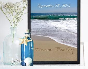 GOTCHA GIFT- Adoption wall art- Adoption Gift - Personalized Adoption Gift- Never Alone Gift - New Gift - Adoption Announcement-Never Alone