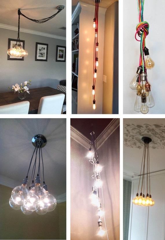 pendant lighting plug in. copper custom cluster pendant light ceiling fixture led globes dipped glass bulbs hanging lamp clustered pendants chandelier lighting plug in