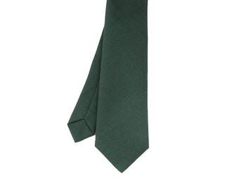 James - Forest Green Wool Men's Tie