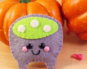 Creepy Cauldron Felt Brooch Hair Clip accessory happy halloween kitsch kawaii spooky cute