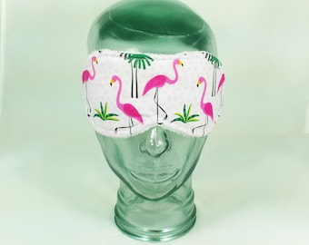 Pink Flamingo Sleep Mask Flamingo sleeping mask Pink Blindfold Travel Eye Shade Florida Accessory tropical wedding Palm Trees Slumber Party