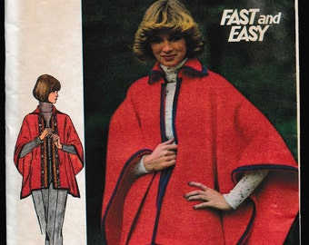 Butterick 4447 Fast and Easy Misses' Poncho