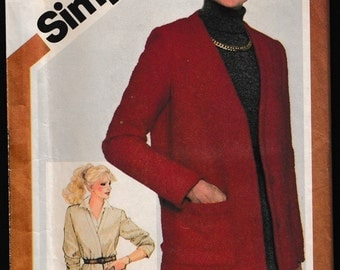 Simplicity 5237 Misses Jiffy® Unlined Jacket