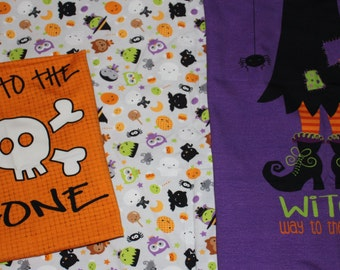 Halloween Footed Pajamas Two Piece Sizes 8-14 Custom Prints Cotton Knit