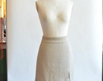 Vintage 1980s designer METALLIC mini skirt
