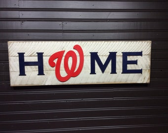 Washington Nationals HOME plaque, sign