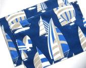 Sailboat Placemats - Set of 2 - Blue Placemats - Nautical Placemats - Summer Placemats - Indoor Outdoor Placemats - Beach Placemats