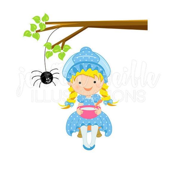 ... , Nursery Rhyme Clip art, Little Miss ... Little Miss Muffet Clipart