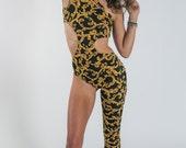 Golden Vine One Leg Bodysuit