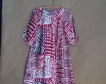 WEEKEND SALE 25% OFF / vintage 70's Hawaiian shift dress / luau dress / all cotton dress / summer shift / Penneys brand / nos