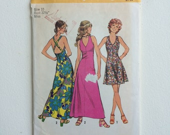 Simplicity Pattern 5037 Vintage 1972 Misses' Summer Dress
