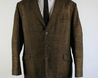 60s Suit Jacket / 60s Sport Coat / Copper Sport Coat /  La La Land / Mid Century Modern / Vintage / Mens / Medium / GOGOVINTAGE