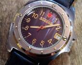 Mens watch Vostok, vintage watch, watch, soviet, men's watch, wrist watch, black watch