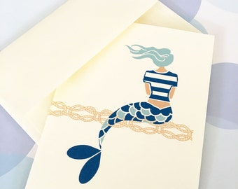 Mermaid Cards,  Stationery, Set of 6