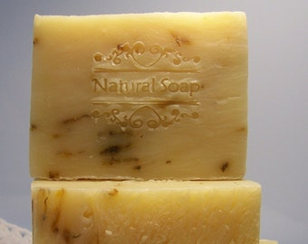 Aloe Calendula Soap - Olive Oil Cold Processed Soap~ All Natural and Vegan Soap
