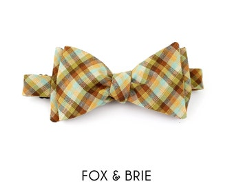 Happy Camper Gingham Bow Tie