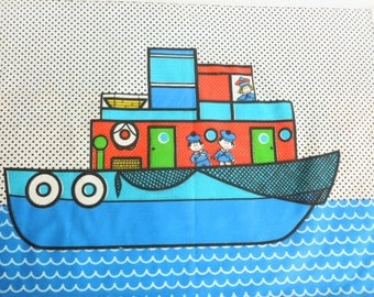 Juvenile Nautical Fabric Panel Ship Boat Ocean DIY Sewing Project Springs Mills Pattern 5668