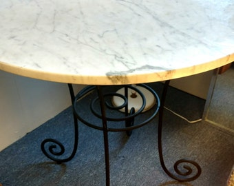 Marble Bistro Table 36""