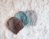 Litte Knit Boy's Beanie, Adorable Photography Prop for Newborn and Ready to Ship