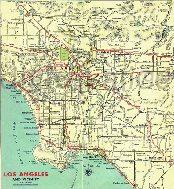 Los Angeles Digital Map Printable Map Download City Of LA