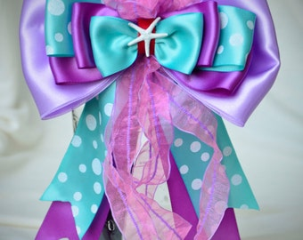 Ready to Ship Disney Bound Couture Ariel Little Mermaid inspired statement bow, a CKD exclusive limited edition Summer 2016