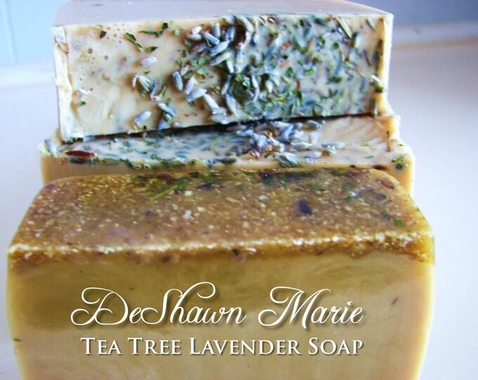 SOAP - 3lb Tea Tree Lavender Vegan Handmade Soap Loaf, Wholesale Soap Loaves