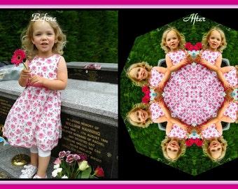 Custom Child Mandala Personalized Kaleidoscopic Boho Chic New Age Sacred Geometry Design