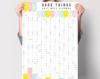 SALE! 2017 Good Things Wall Calendar Year Planner