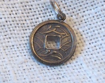 Chinese Feng Shui Good Luck Coin Sterling Charm