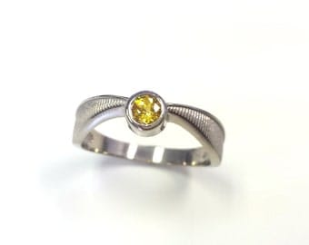 Flying Gold Wizard Ball Geeky Engagement Ring - 14kt White Gold - Pop Culture - Nerdy Jewelry - Book Lovers, Book Inspired