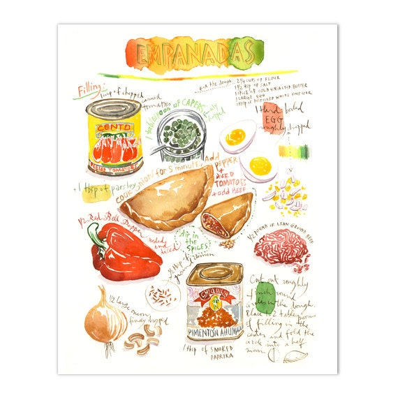 Empanada recipe print illustrated recipe latin american food like this item forumfinder Gallery