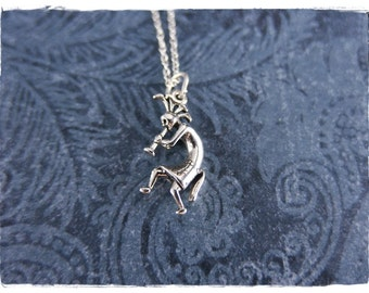Silver Kokopelli Necklace - Sterling Silver Kokopelli Charm on a Delicate Sterling Silver Cable Chain or Charm Only