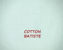 Light Sky Blue Batiste, 1970s Vintage, Sheer Fashion Fabric, Crown Textile, Si Bonne, Lightweight, Mercerized Cotton, half yard, B35
