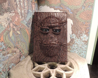 Mythical Beast Book (The Alien- Black eyes and Brown leather)