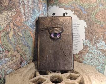 Mythical Beast Book (Metallic Bronze leather with Purple eye)