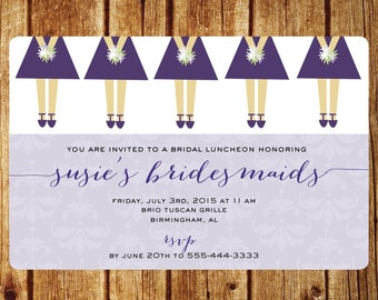 Bridesmaid's Dresses Bridesmaid's Luncheon Invitation-Customize Colors- Bridal Luncheon or Brunch Custom Digital File
