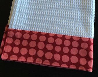 Kitchen Towel, Hand Towel, Tea Towel, Waffle Weave Towel, Dish Towel, Kitchen Hand Towel-Red Dot-Amy Butler