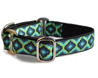 Martingale Collar or Buckle Dog Collar - Moroccan Splendor Jacquard - 1 Inch