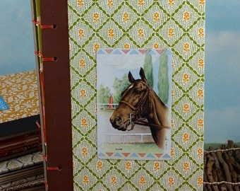 Race Horse at the Track Writing Journal with Vintage Playing Card on Readers Digest Hardcover