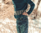 "KNITTING PATTERN PDF file for boys and girls color work pullover-""lodgepole"""