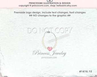 1416-10 princess jewelry logo necklace logo accessories logo business boutique shop logo by princess mi logo 1416-10