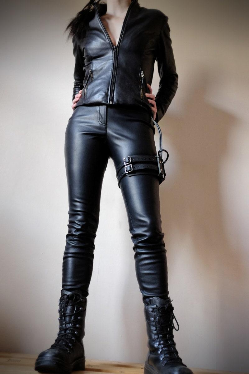 leather garter belt black steunk burning