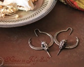 15% off and free standard shipping for July Miyu Decay Gauged Crescent Bat Hooped Earrings