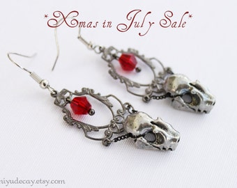 15% off and free standard shipping for July Miyu Decay Noir Filigree Framed Crystal Earrings