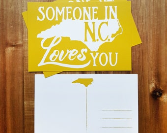 North Carolina Post Card - Someone in NC loves you - new address - just moved