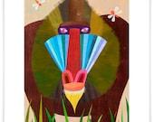 Mandrill, Art Print // Safari