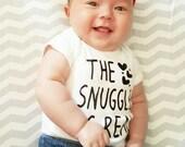 Snuggle Baby Onesie. Funny Baby Onesie. Cotton Onesies. Gerber Onesie. Trendy Baby Girl Bodysuit. Baby Girl Shower Gift.