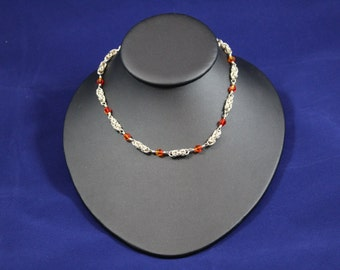 Silver-Filled Byzantine Chainmaille with Swarovski Crystals