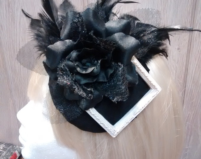 White Frame Headdress - Gothic Lolita Fascinator